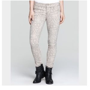 Free people millennium floral skinny jeans